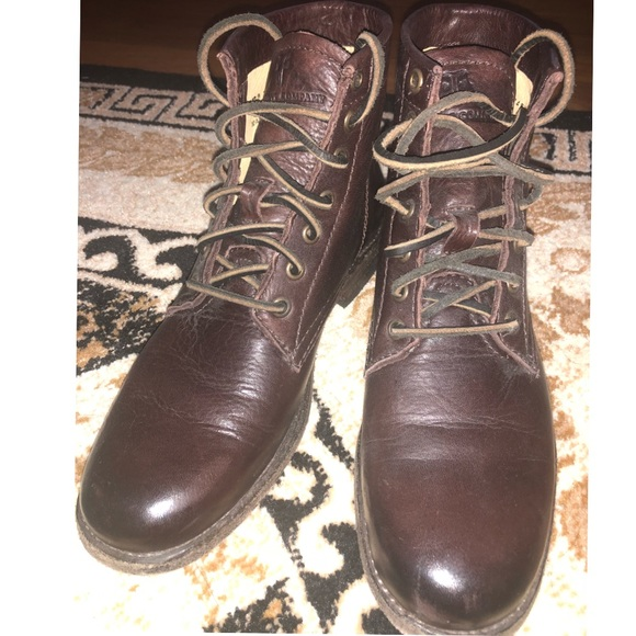 eac717adf457b Frye Shoes | Tyler Lace Up Dark Brown Boots Size 75 | Poshmark